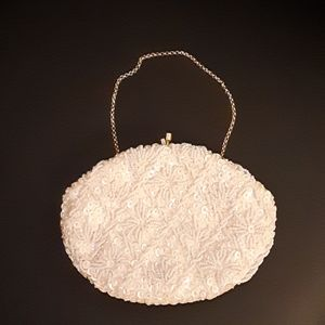 Beaded and sequined evening purse.